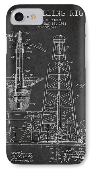Vintage Oil Drilling Rig Patent From 1911 IPhone Case by Aged Pixel