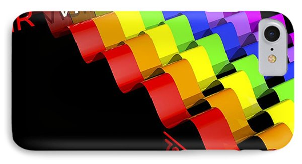 Visible Light Spectrum, Artwork IPhone Case by Russell Kightley
