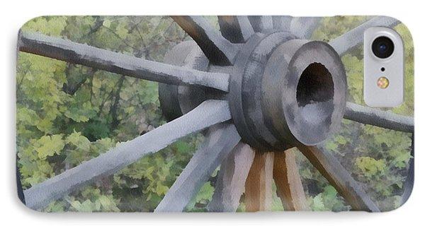 Wagon Wheel Phone Case by Ernie Echols