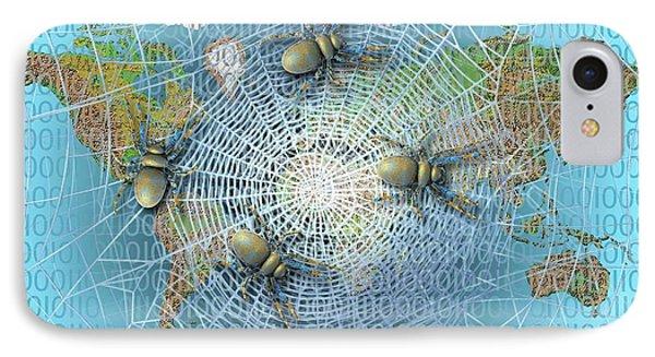 Web Crawlers IPhone Case by Carol & Mike Werner