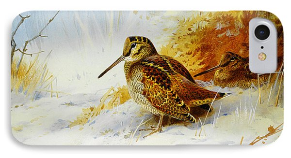 Winter Woodcock  IPhone Case by Celestial Images
