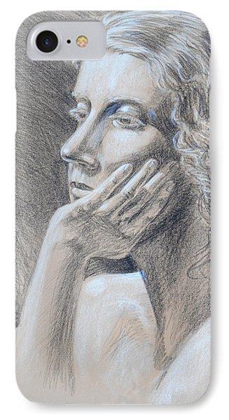 Woman Head Study IPhone Case by Irina Sztukowski