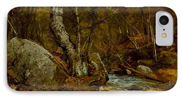 Woodland Interior IPhone Case by John Frederick Kensett