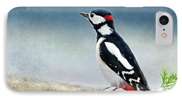 Woodpecker IPhone 7 Case by Heike Hultsch