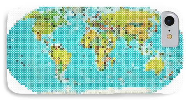 World Map IPhone Case by Celestial Images