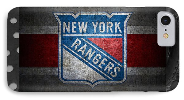 New York Rangers IPhone Case by Joe Hamilton