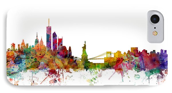 New York Skyline IPhone 7 Case by Michael Tompsett
