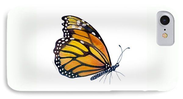 103 Perched Monarch Butterfly Phone Case by Amy Kirkpatrick