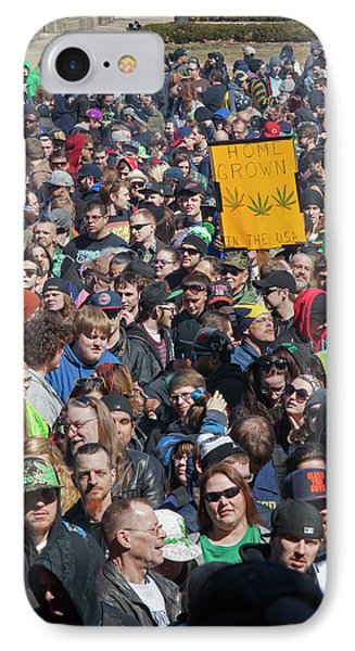 Legalisation Of Marijuana Rally IPhone 7 Case by Jim West