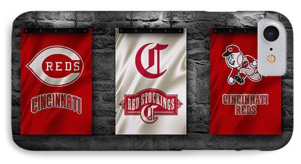 Cincinnati Reds IPhone Case by Joe Hamilton