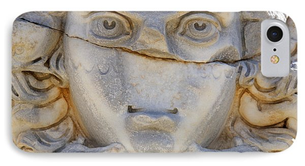 Sculpted Medusa Head At The Forum Of Severus At Leptis Magna In Libya IPhone 7 Case by Robert Preston