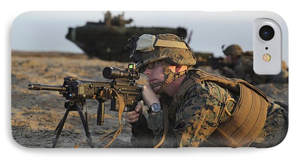 U.s. Marine Provides Security IPhone Case by Stocktrek Images