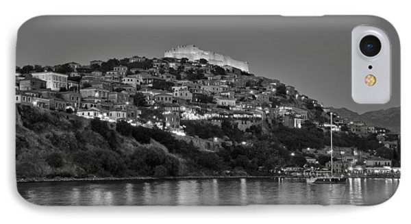 Molyvos Village During Dusk Time Phone Case by George Atsametakis