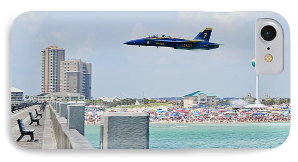 Blue Angels On Pensacola Beach IPhone Case by Specialist 2nd Class Andrea Perez