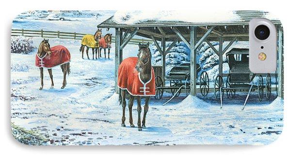 Brisk Winter Days IPhone Case by John Bindon