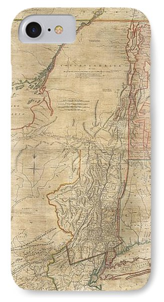 1768 Holland  Jeffreys Map Of New York And New Jersey  Phone Case by Paul Fearn