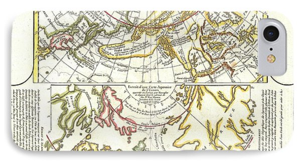 1772 Vaugondy Diderot Map Of Alaska The Pacific Northwest And The Northwest Passage Phone Case by Paul Fearn