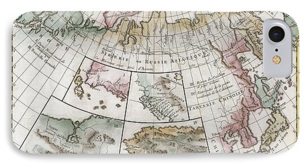 1772 Vaugondy  Diderot Map Of Asia Alaska And The Northeast Passage IPhone Case by Paul Fearn