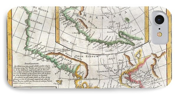 1772 Vaugondy  Diderot Map Of California And Alaska  Anian And Quivira  IPhone Case by Paul Fearn