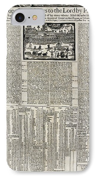 17th Century Account Of Plagues In London IPhone Case by British Library