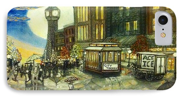 1800s Street Scene Painting Phone Case by Larry E Lamb