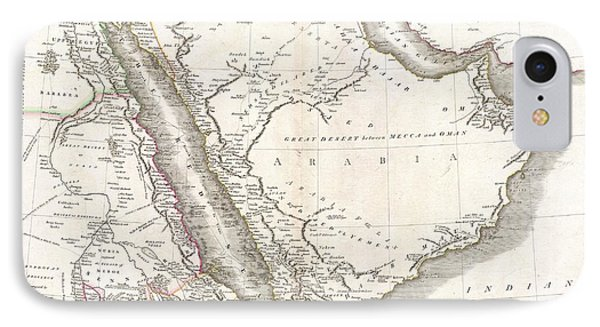 1811 Cary Map Of Arabia Egypt And Abyssinia IPhone Case by Paul Fearn
