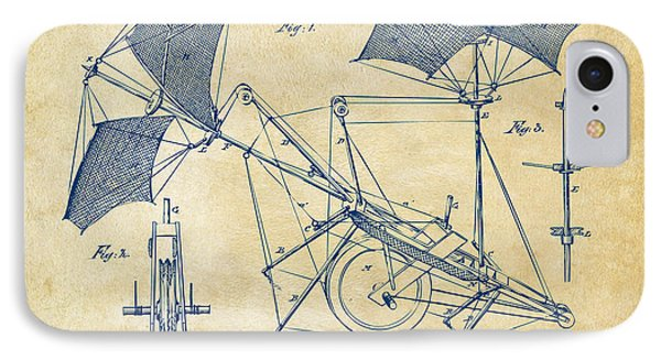 1879 Quinby Aerial Ship Patent Minimal - Vintage Phone Case by Nikki Marie Smith