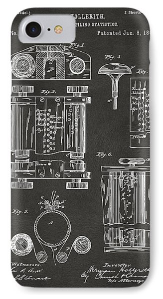1889 First Computer Patent Gray IPhone 7 Case by Nikki Marie Smith