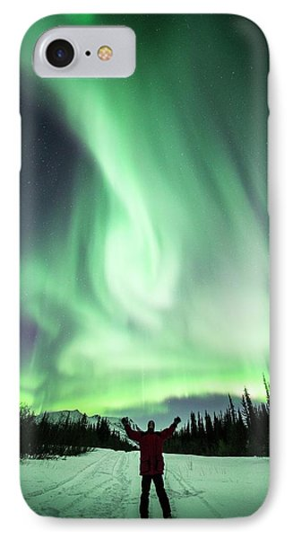 Aurora Borealis In Alaska IPhone Case by Chris Madeley