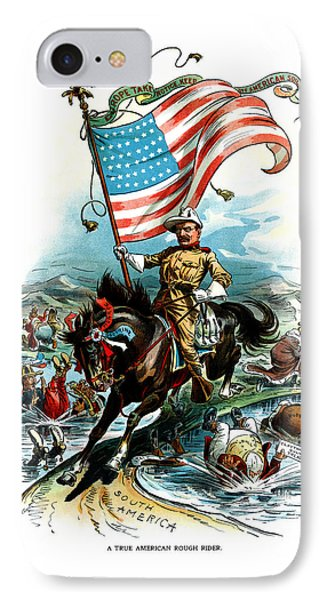 1902 Rough Rider Teddy Roosevelt IPhone Case by Historic Image