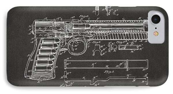 1903 Mcclean Pistol Patent Artwork - Gray IPhone Case by Nikki Marie Smith