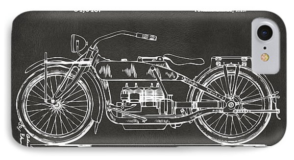 1919 Motorcycle Patent Artwork - Gray IPhone Case by Nikki Marie Smith