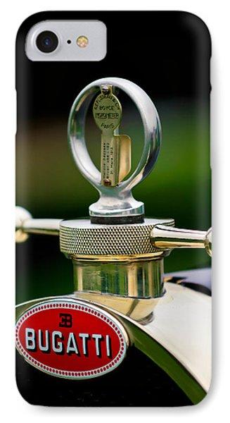 1923 Bugatti Type 23 Brescia Lavocat Et Marsaud Hood Ornament IPhone Case by Jill Reger