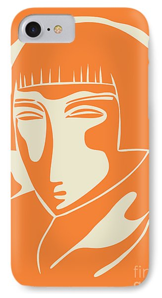 1928 Woman Face   Orange IPhone 7 Case by Igor Kislev