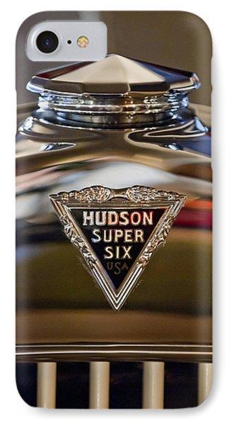 1929 Hudson Cabriolet Hood Ornament IPhone Case by Jill Reger