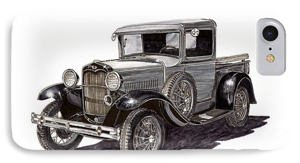 1930 Ford Model A Pick Up Phone Case by Jack Pumphrey