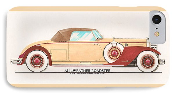 1932 Packard All Weather Roadster By Dietrich Concept Phone Case by Jack Pumphrey