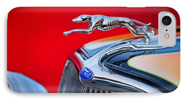 1933 Ford Hood Ornament IPhone Case by Jill Reger