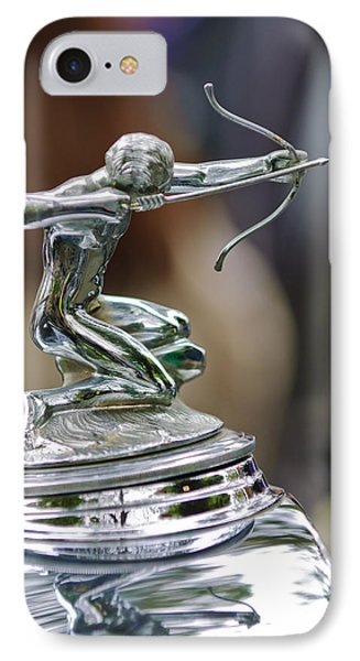 1933 Pierce-arrow 1236 2-door Convertible Coupe Hood Ornament IPhone Case by Jill Reger