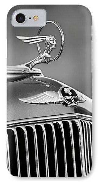 1933 Pontiac Hood Ornament - Emblem -0385bw IPhone Case by Jill Reger