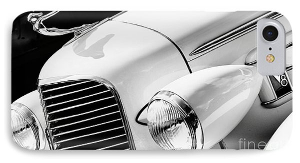 1936 Cadillac V8 Monochrome IPhone Case by Tim Gainey