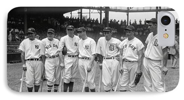 1937 American League All-star Players IPhone Case by Georgia Fowler
