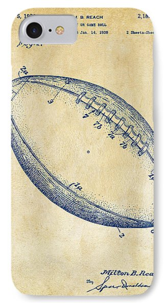 1939 Football Patent Artwork - Vintage IPhone Case by Nikki Marie Smith