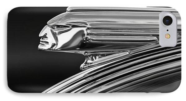 1939 Pontiac Silver Streak Hood Ornament 3 Phone Case by Jill Reger