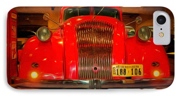 1939 World's Fair Fire Engine IPhone Case by MJ Olsen