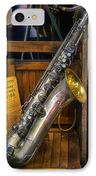 1940ish Saxophone Phone Case by Thomas Woolworth