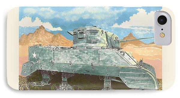 1943 Stuart M-5 Light Tank Combat IPhone Case by Jack Pumphrey