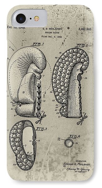 1948 Boxing Glove Patent Phone Case by Digital Reproductions