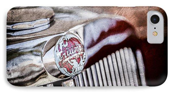 1949 Triumph 2000 Roadster Grille Emblem -0681ac IPhone Case by Jill Reger
