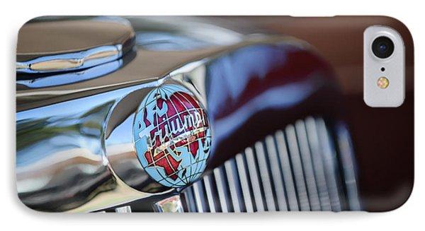 1949 Triumph 2000 Roadster Grille Emblem -0681c IPhone Case by Jill Reger